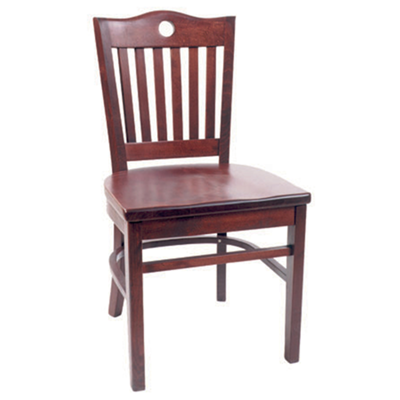 Tidal Eye Solid Beech Wood Indoor Restaurant Side Chair