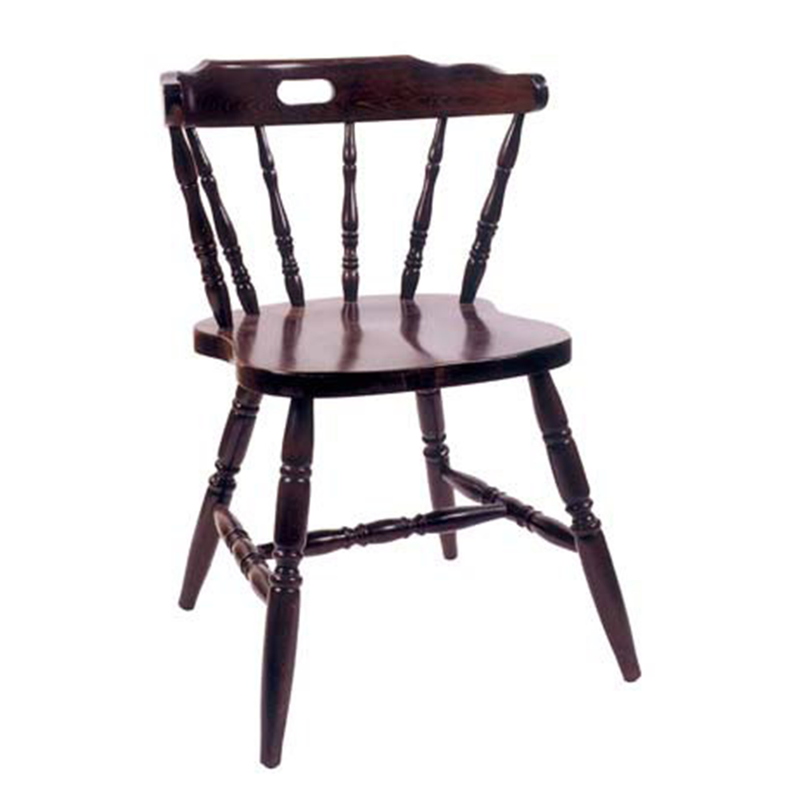 Countryside Solid Beech Wood Indoor Restaurant Side Chair