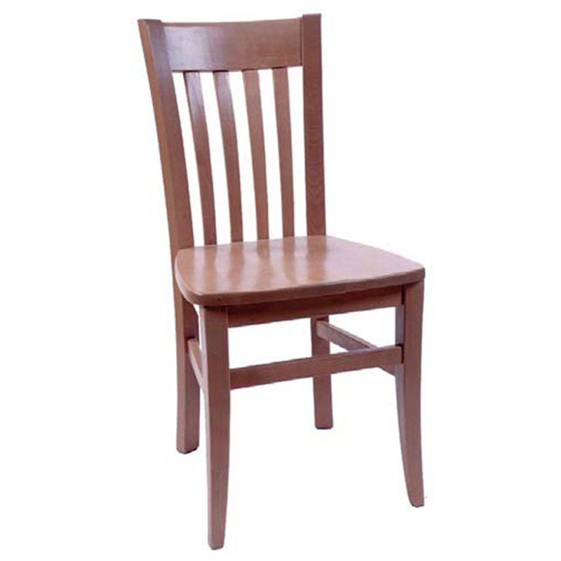 Solid Beech Wood Spindle Restaurant Side Chair