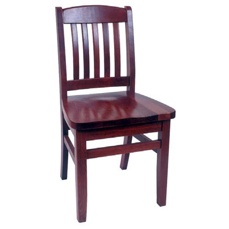 College Spindle Back Solid Beech Wood Indoor Restaurant Side Chair - Moda Seating Corp