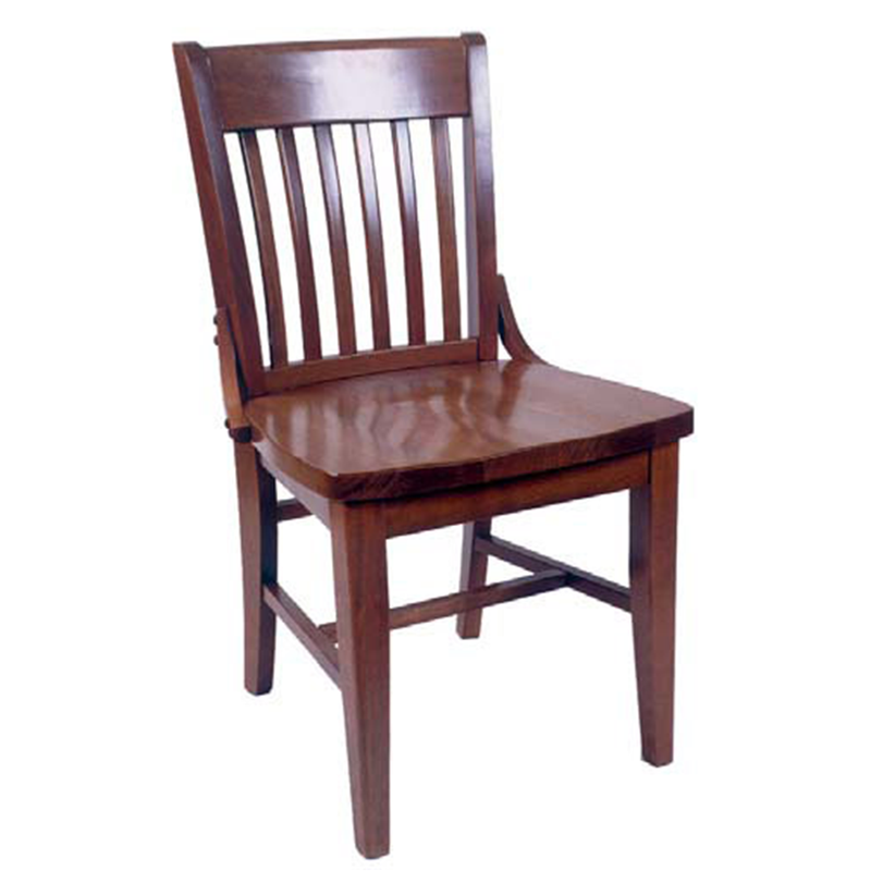 Library Solid Beech Wood Indoor Restaurant Side Chair - Moda Seating Corp