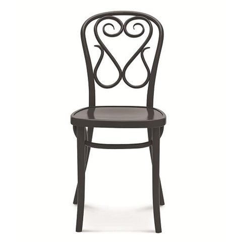 Bentwood Swan Solid Beech Wood Indoor Restaurant Side Chair - Moda Seating Corp