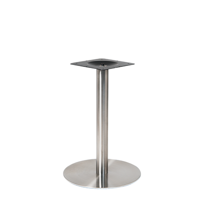 "20"" Round Outdoor 3 Piece Stainless Steel Restaurant Table Base - Moda Seating Corp"