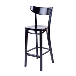 Petite Bentwood Solid Beech Wood Oval Back Restaurant Bar Stool