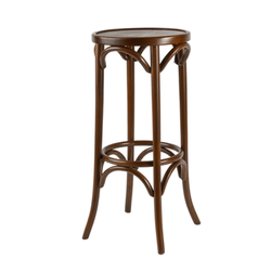 Bentwood Backless Solid Beech Wood Restaurant Bar Stool