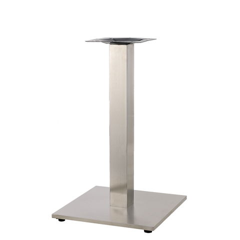"20""X20"" Indoor 3 Piece Stainless Steel Restaurant Table Base - Moda Seating Corp"