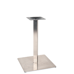 "20"" X 20"" Round Outdoor 3 Piece Stainless Steel Restaurant Table Base"