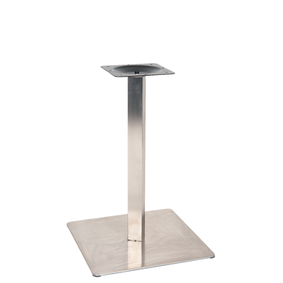 "20"" X 20"" Round Outdoor 3 Piece Stainless Steel Restaurant Table Base - Moda Seating Corp"