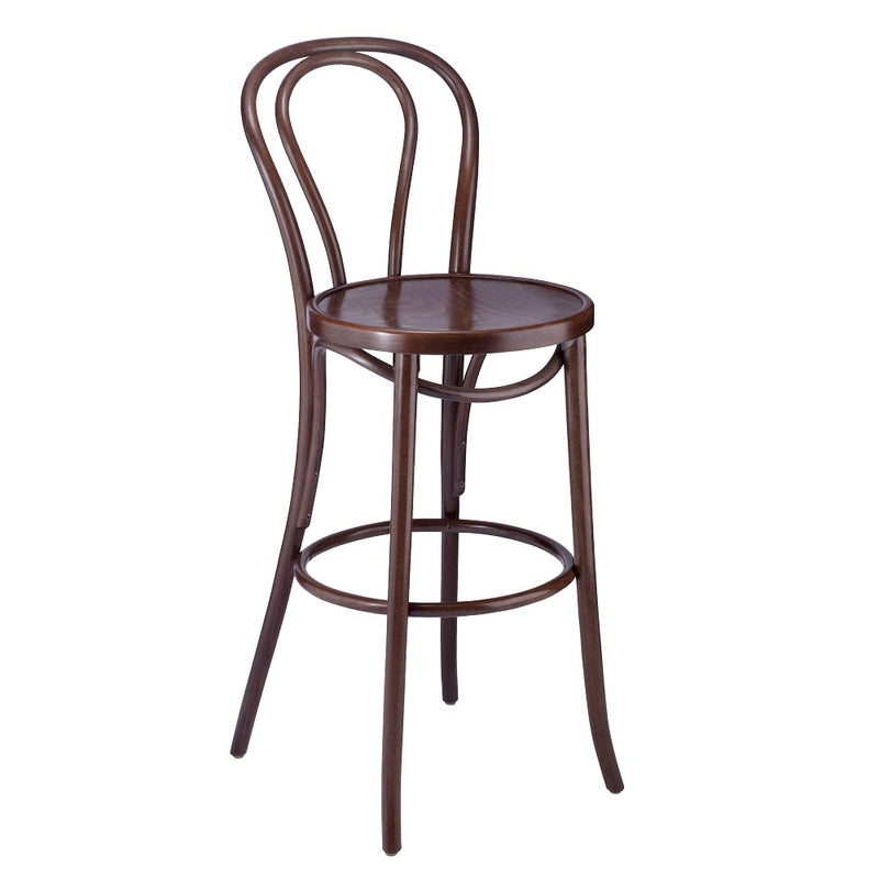 Classic Bentwood Solid Beech Wood Hairpin Restaurant Bar Stool - Moda Seating Corp