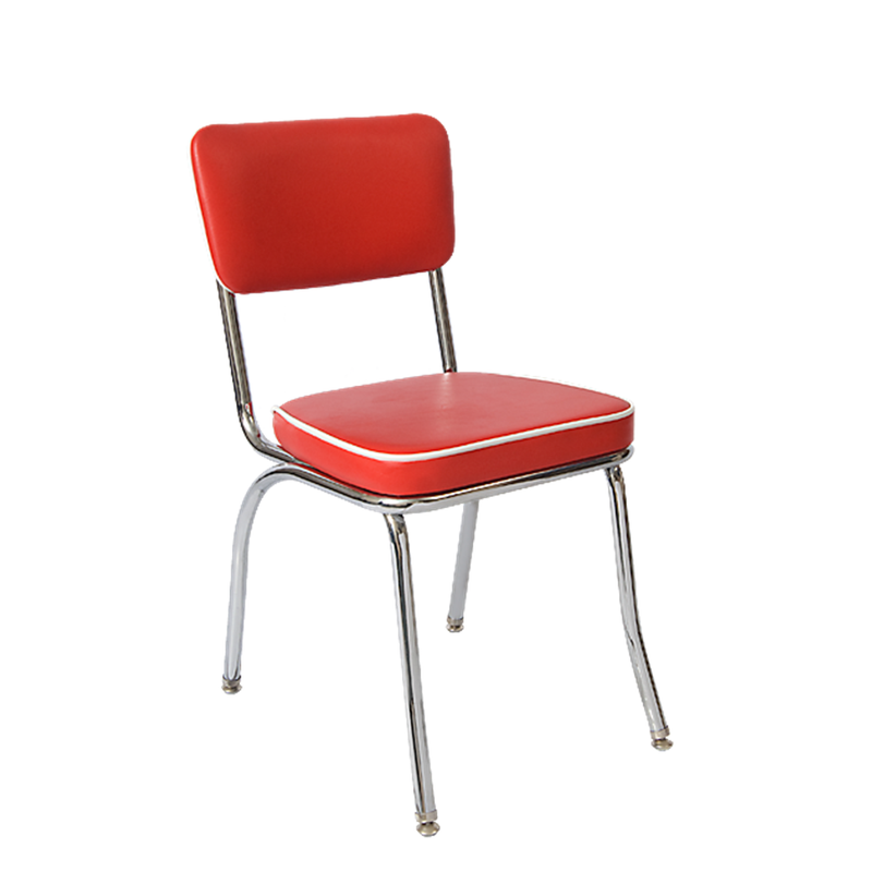 Red Upholstered Metal Frame Indoor Restaurant Chair - Moda Seating Corp