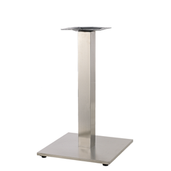 "22"" X 22"" Indoor 3 Piece Stainless Steel Restaurant Table Base"