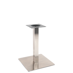 "22"" X 22"" Round Outdoor 3 Piece Stainless Steel Restaurant Table Base"