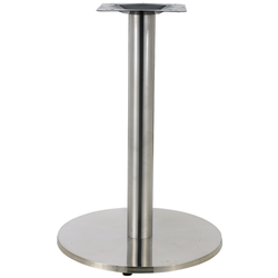 "23"" Round Indoor 3 Piece Stainless Steel Restaurant Table Base"