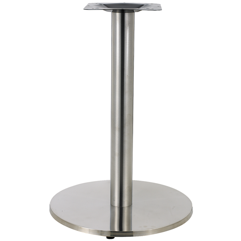 "23"" Round Indoor 3 Piece Stainless Steel Restaurant Table Base - Moda Seating Corp"