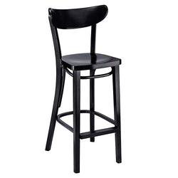 Petite Bentwood Solid Beech Wood Oval Back Restaurant Bar Stool - Moda Seating Corp