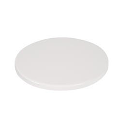 "24"" Round Indoor/Outdoor Plain White Resin Restaurant Table Top"