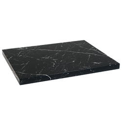 "24""X24"" Black Indoor Artificial Granite Restaurant Table Top"