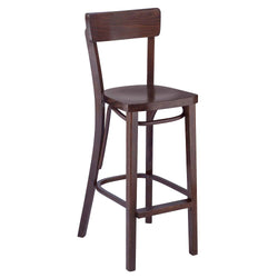 Slim Cafe Solid Beech Wood Indoor Restaurant Bar Stool - Moda Seating Corp
