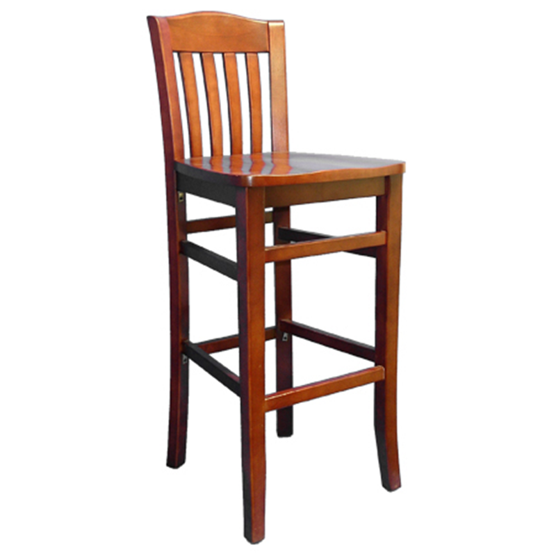Solid Beech Wood Traditional School House Indoor Restaurant Bar Stool - Moda Seating Corp