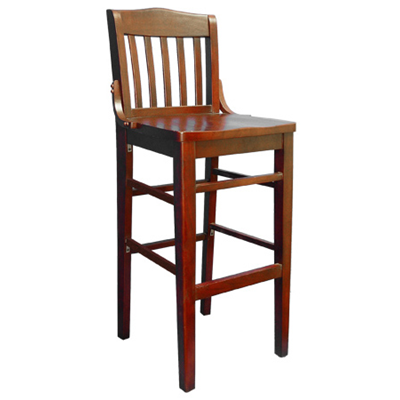 Solid Beech Wood School House Bar Stool - Moda Seating Corp