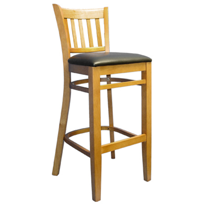 Barreau Solid Beech Wood Indoor Restaurant Bar Stool - Moda Seating Corp