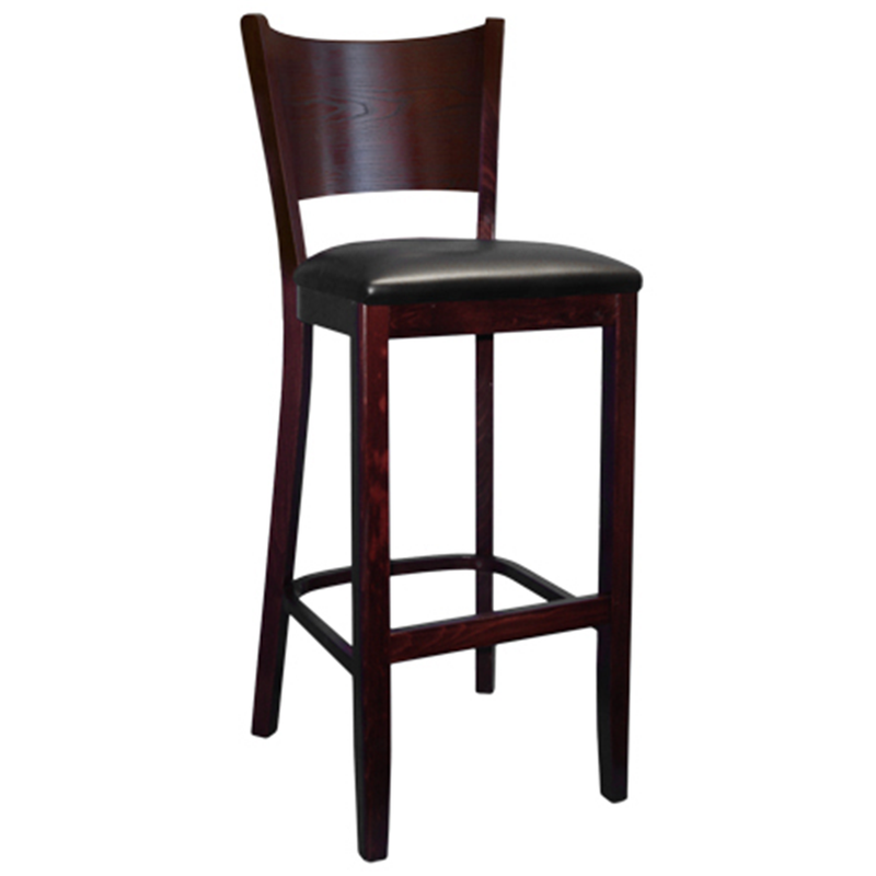 Panel Back Solid Beech Wood Indoor Restaurant Bar Stool - Moda Seating Corp