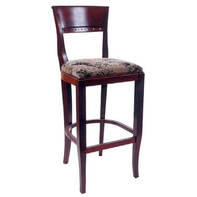 Biedermeier Indoor Solid Beech Wood Restaurant Bar Stool - Moda Seating Corp