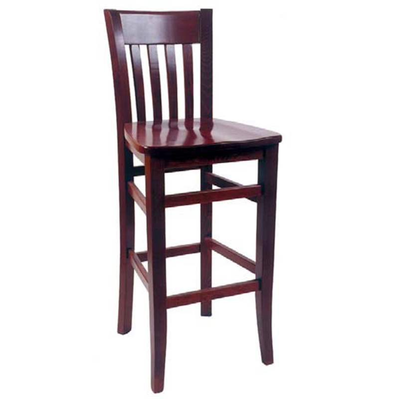Solid Beech Wood Spindle Restaurant Bar Stool - Moda Seating Corp