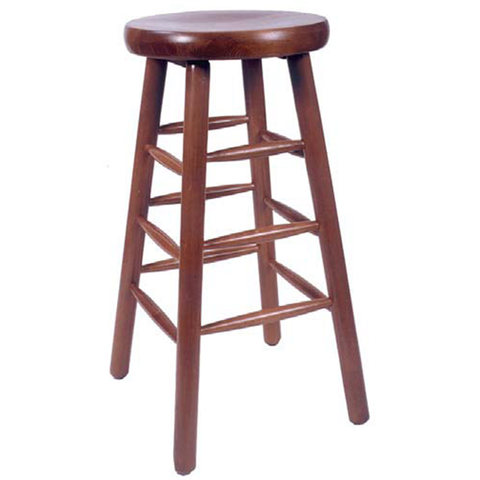 Classic Backless Indoor Solid Beech Wood Restaurant Bar Stool