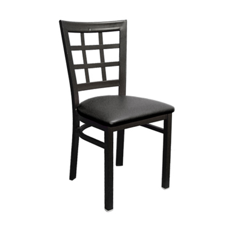 Metal Window Back Indoor Restaurant Chair