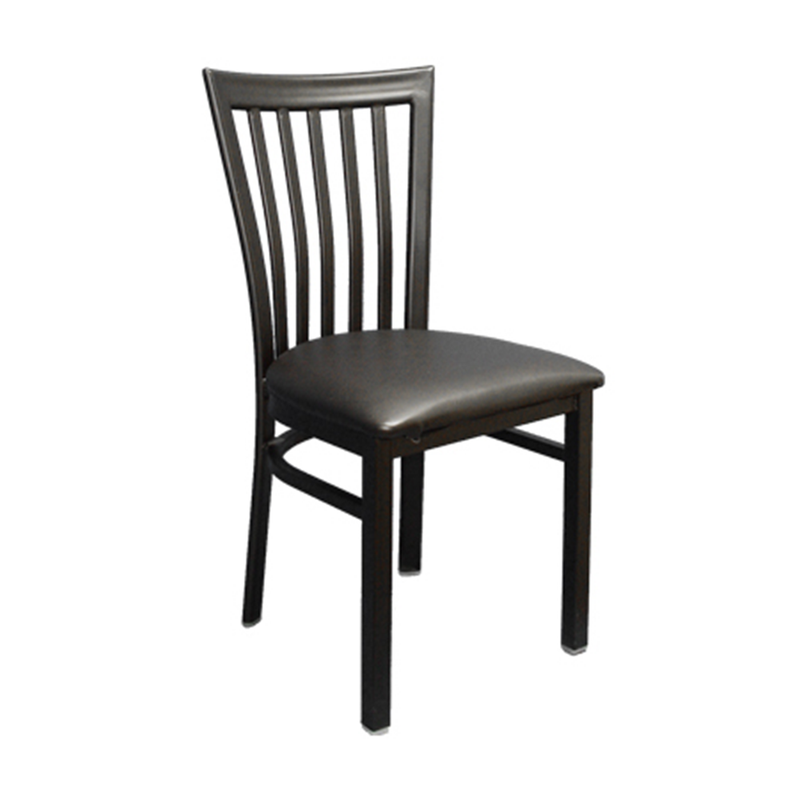 Elongated Vertical Back Metal Indoor Restaurant Chair - Moda Seating Corp