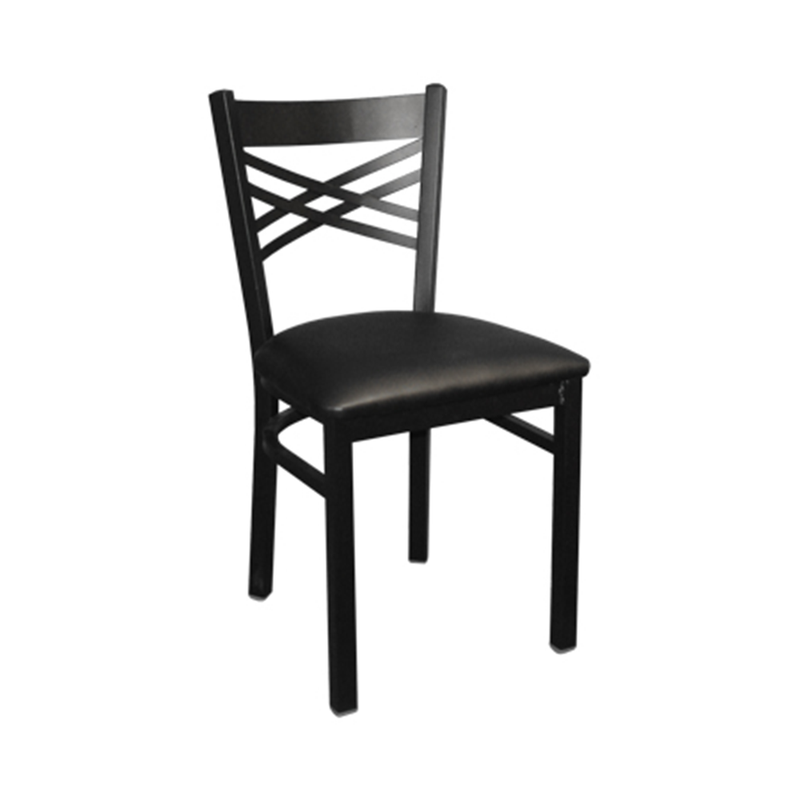 Metal X Back Indoor Restaurant Chair