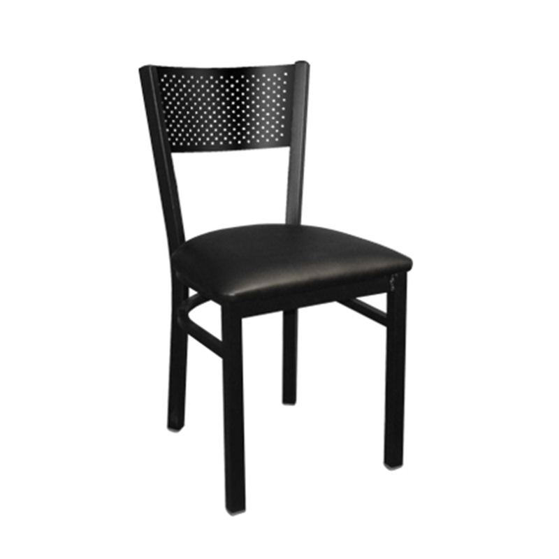 Metal Perforated Back Indoor Restaurant Chair