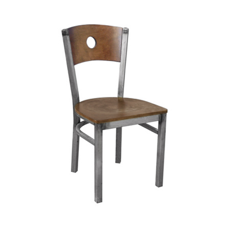 Metal Clear Coat Circle Back Indoor Restaurant Chair - Moda Seating Corp