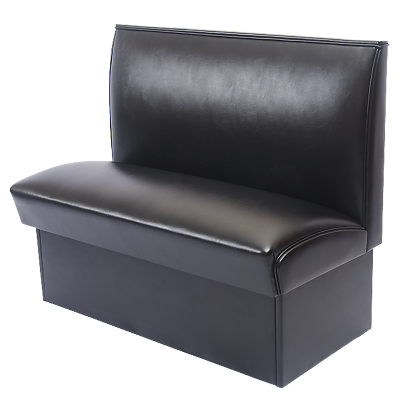 Black Vinyl Fully Upholstered Single Sided Restaurant Booth - Moda Seating Corp