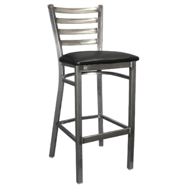 Clear Coated Ladder Back Metal Restaurant Barstool - Moda Seating Corp