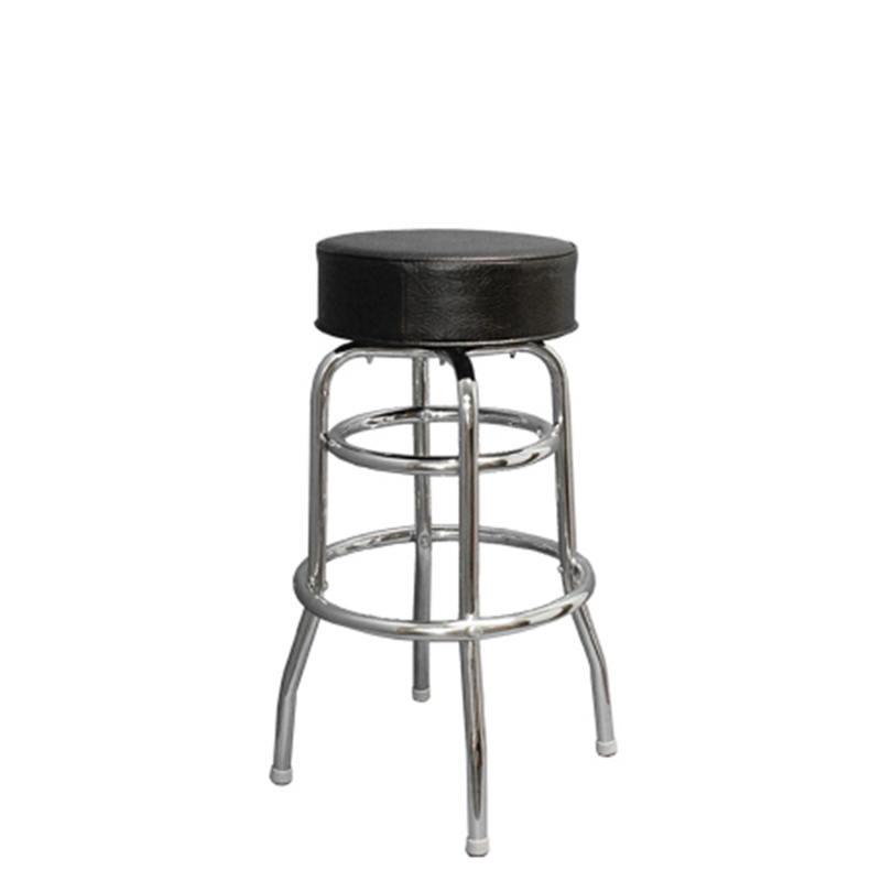 Backless Swivel Chrome Base with Vinyl Seat Indoor Restaurant Barstool - Moda Seating Corp