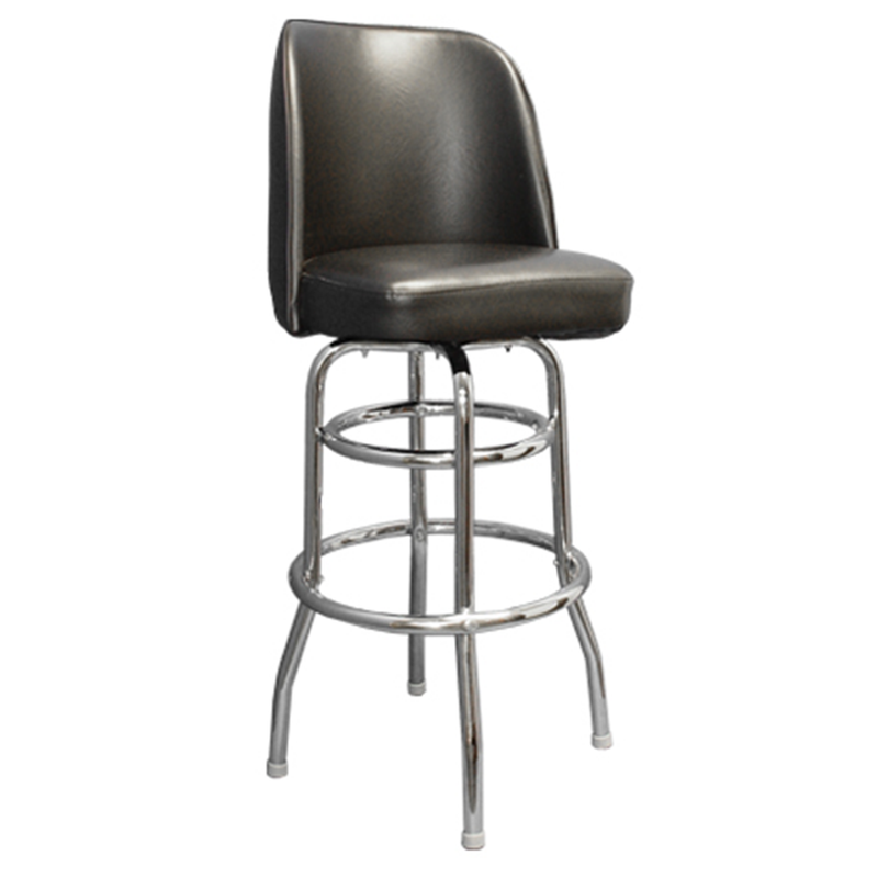 Vinyl Seat Swivel w/Chrome Finish Base Indoor Restaurant Barstool - Moda Seating Corp