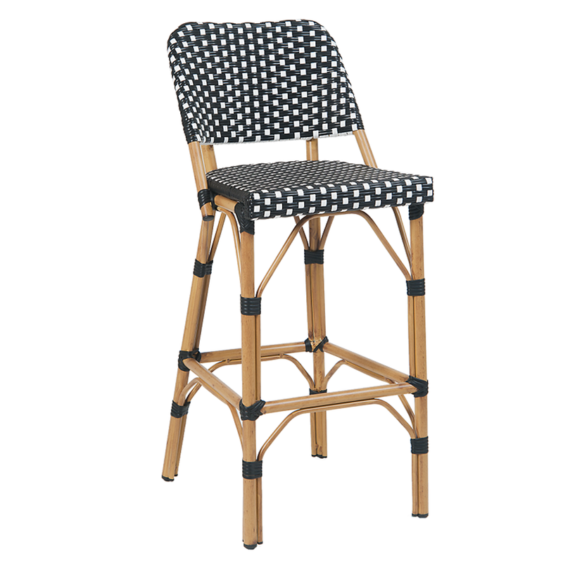 Poly Woven Aluminum Outdoor Restsaurant Bar Stool - Moda Seating Corp