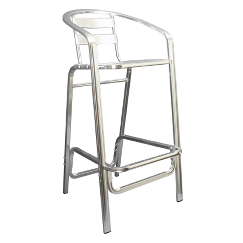 Aluminum Two Slat Back Outdoor Restaurant Bar Stool - Moda Seating Corp