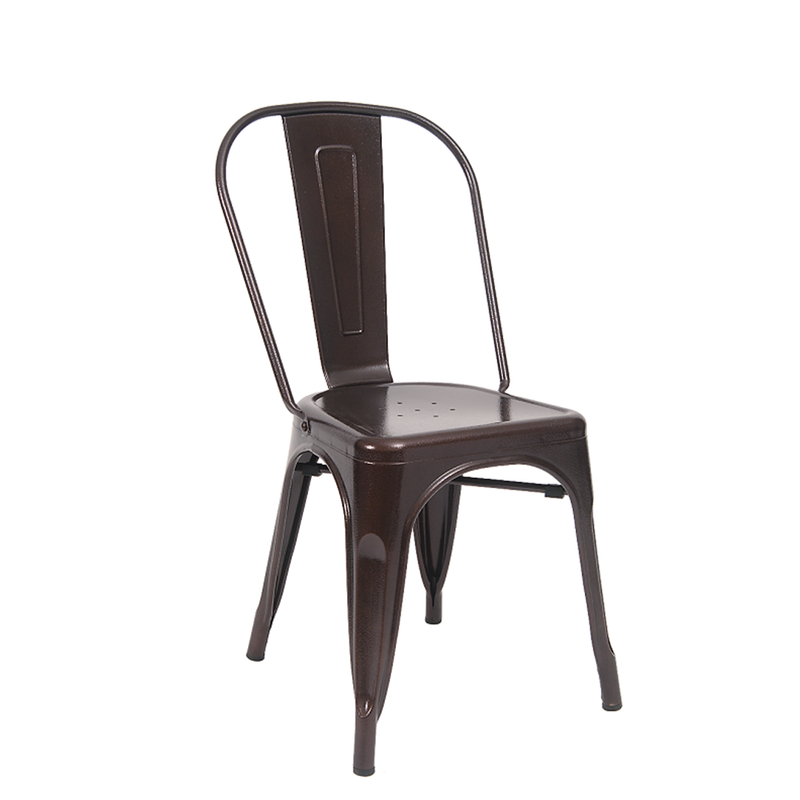Indoor Metal Restaurant Chair in Brown Finish - Moda Seating Corp