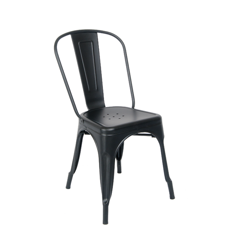 Indoor Metal Restaurant Chair in Matte Black Finish - Moda Seating Corp