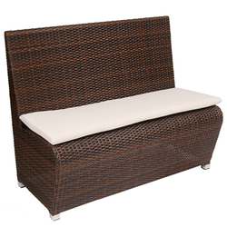 Light Weight Aluminum Frame, Poly Woven Brown Bench