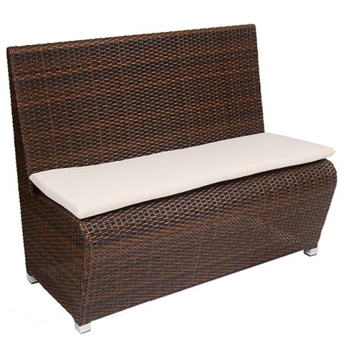 Light Weight Aluminum Frame, Poly Woven Brown Bench - Moda Seating Corp