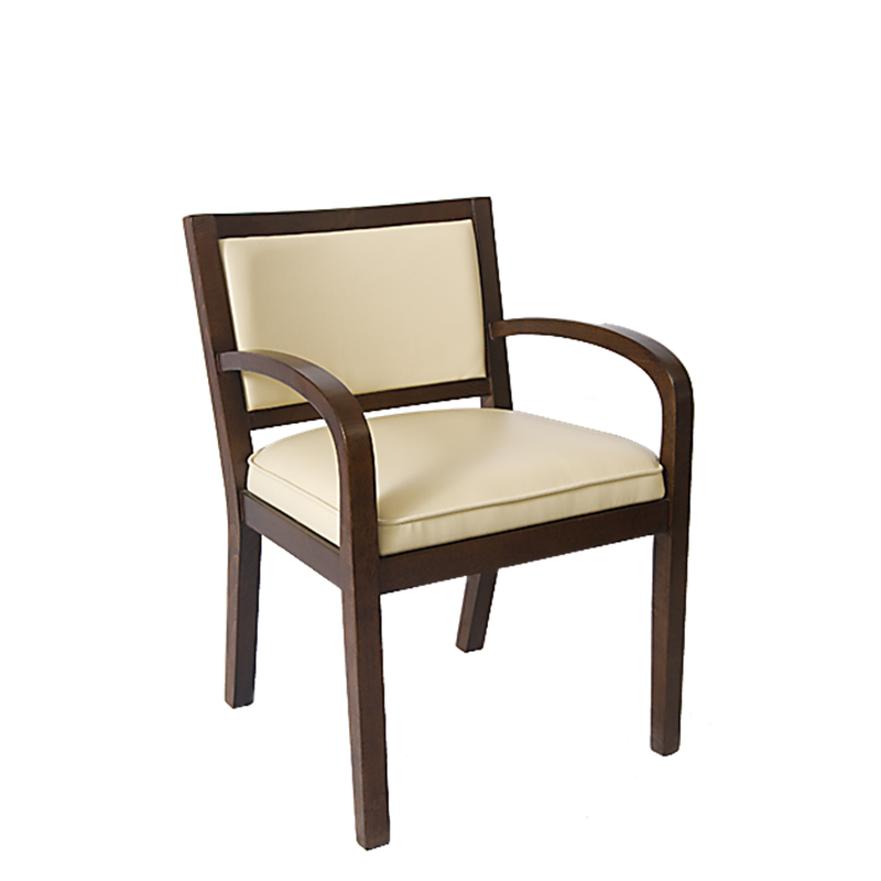 Solid Beechwood Lounge & Club Indoor Chairs Padded Vanilla - Moda Seating Corp
