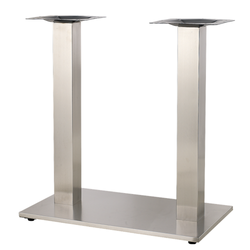 "15""X27"" Indoor 3 Piece Stainless Steel Restaurant Table Base"