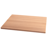 "24"" X 24"" Indoor Solid Beechwood Plank Restaurant Table Top"