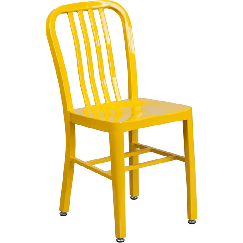 Yellow Metal Indoor-Outdoor Chair - Moda Seating Corp