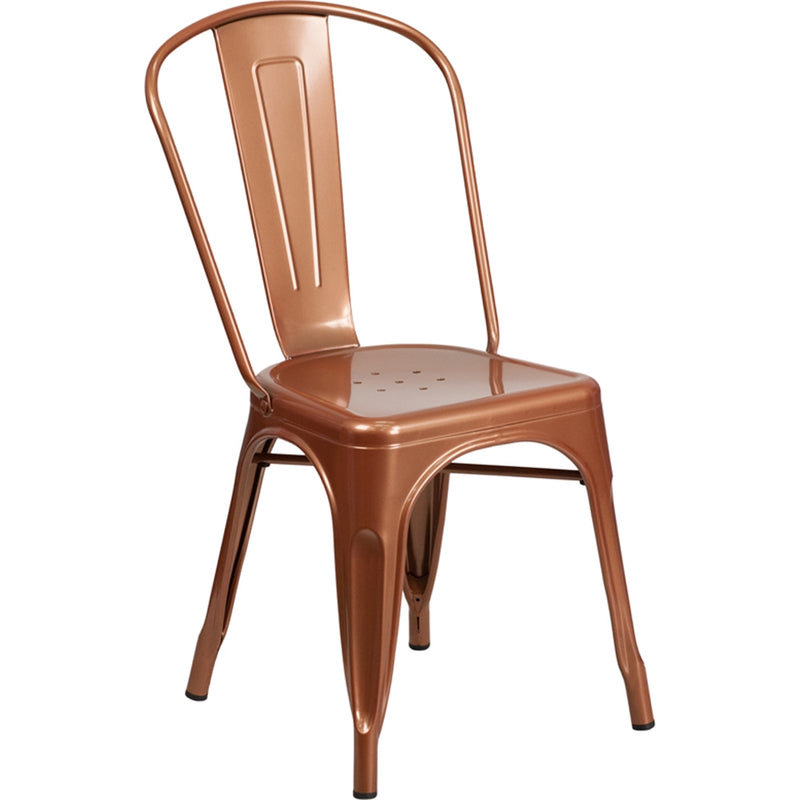 Copper Metal Indoor-Outdoor Stackable Chair - Moda Seating Corp
