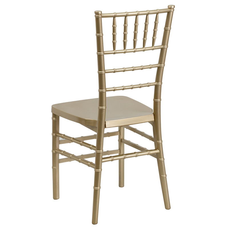HERCULES PREMIUM Series Gold Resin Stacking Chiavari Chair - Moda Seating Corp